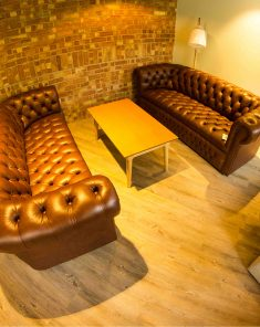 Hull Univeristy leather armchairs