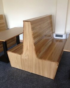 wooden bench and table 4