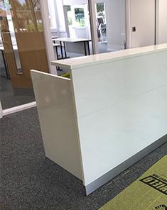 High Gloss Reception Desk 3