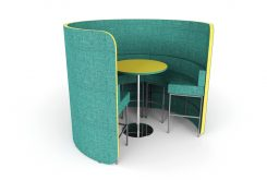 Flexi Circa Acoustic Booth with High Seats