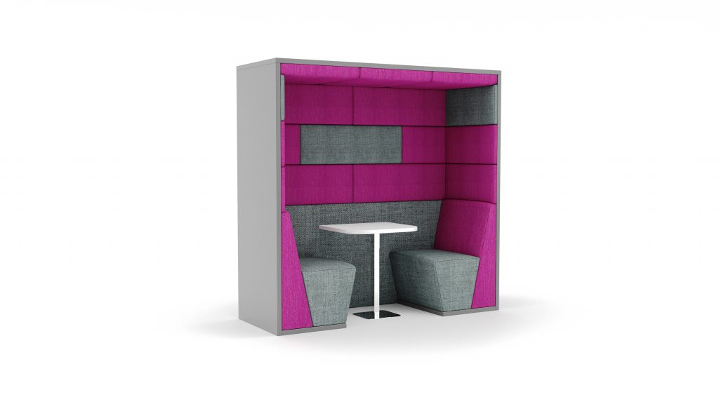 Ses Acoustic Screen booth pink and grey