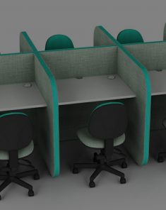Flexi desk pods
