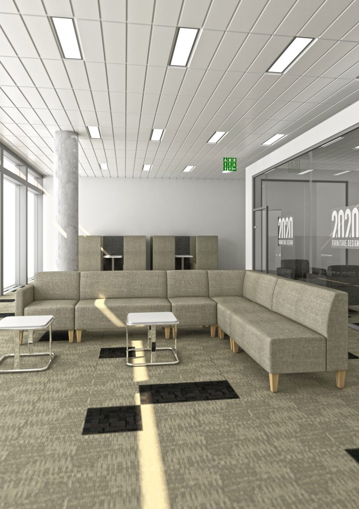 Stream V3 breakout space seating with tables