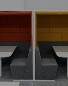 Session Booths in School Library